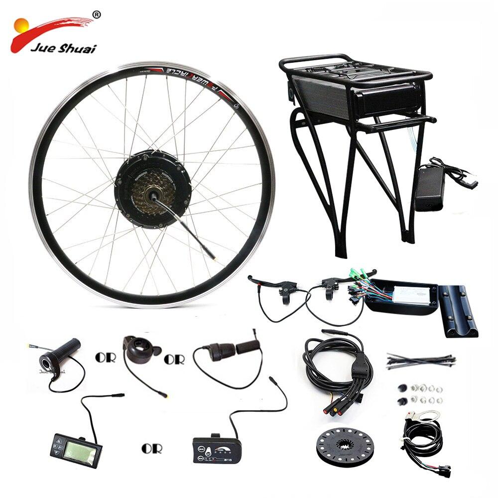 36V 250W/350W/500W Rear Carrier Battery Electric Bicycle Kit Electric Bike Conversion Kit For 20 26 700C 28 MTB City Bike