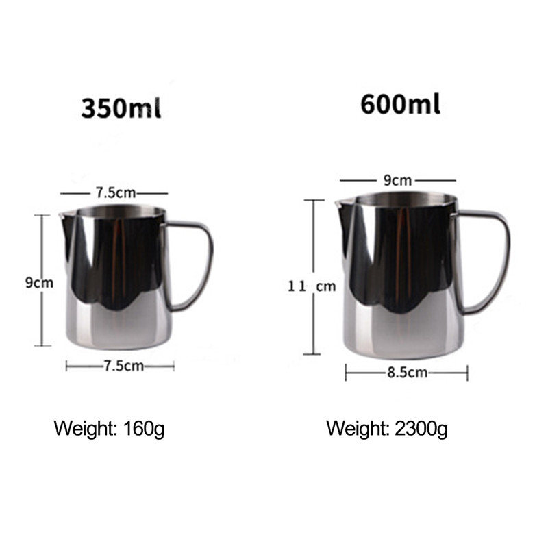TTLIFE 0,3-0.6л Нержавеющая сталь ЛАТТЕ молочный кувшин для откорма цветок чашка вспениватель молока для кофе вспенивание молока Инструмент кофе...