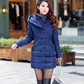 Новое прибытие женщин зимние пуховики 4 цвета хлопка с длинными рукавами с капюшоном jaquetas feminina встать воротник женщин зимняя куртка