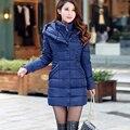 Chegada nova mulheres de inverno de down casacos 4 cores de algodão de mangas compridas com capuz jaquetas feminina stand up collar mulheres jaqueta de inverno