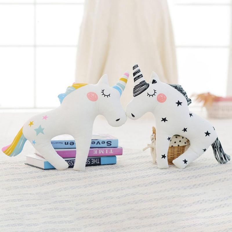 Unicorn Baby sleeping pillow cushion Kids bedding pillow decorate toy Princess Bedroom decoration Newborn Photograph props D3