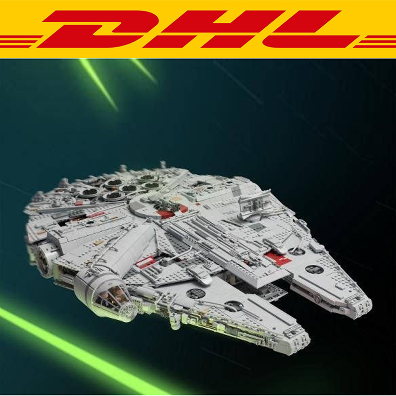8445Pcs Star Wars Ultimate Collector Series Millennium Falcon Model Building Kits Blocks Bricks Compatible Toy For Children Gift 2017 new 3803pcs star wars death star model building kits figures blocks bricks educational children toy gift compatible 10188