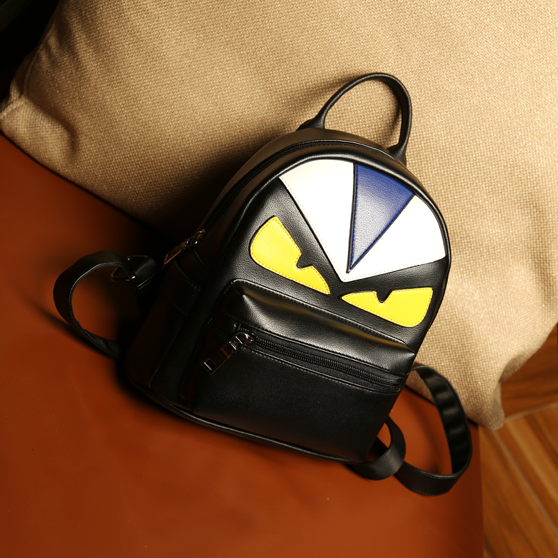 Coréenne d'hiver Métrosexuel sac à dos sac sac creative petit monstre couple Rue sac à dos rétro étudiants