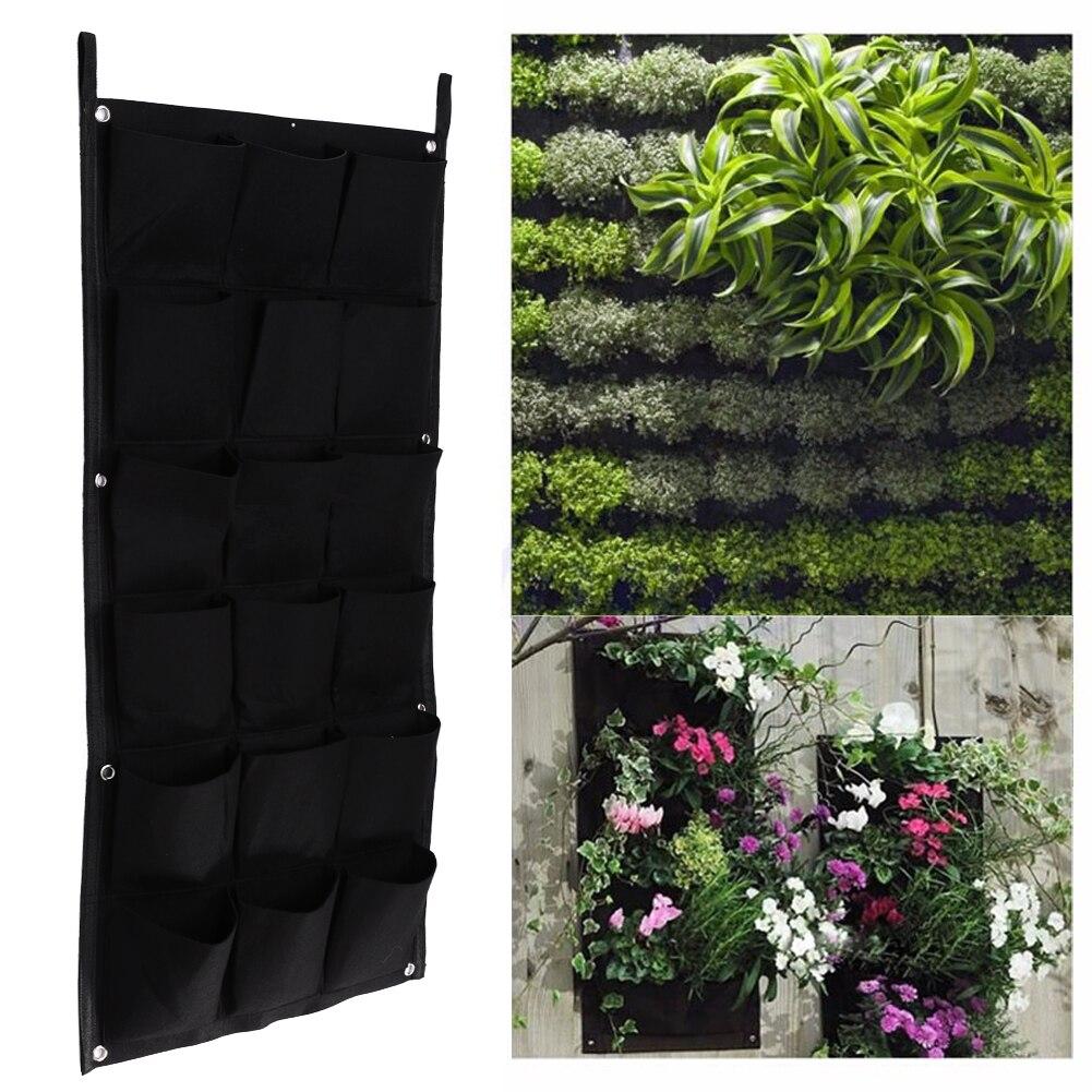 Ngoài trời Treo Trong Nhà Chậu Cây 18 Túi Tường Vertical Vườn Flower Pots và Planter Treo Chậu Chậu