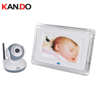 2.4GHz Digital Wireless Baby Monitor 7 inch LCD Display Video 2 way Talk Camera Security Camera System 4 Channels cctv camera