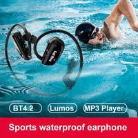 Philips оригинальный 8 GB Водонепроницаемый MP3 плеер Bluetooth наушники беспроводная гарнитура для занятий спортом плавание плеера Bluetooth наушники