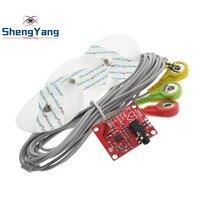 Шэньян модуль ЭКГ AD8232 измерение показателей ЭКГ импульса сердце ЭКГ мониторинга модуль датчика Комплект для Arduino