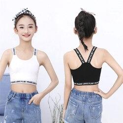 Детская майка без рукавов; топы для девочек; Летнее спортивное нижнее белье для йоги; рубашки для танцев; детская одежда