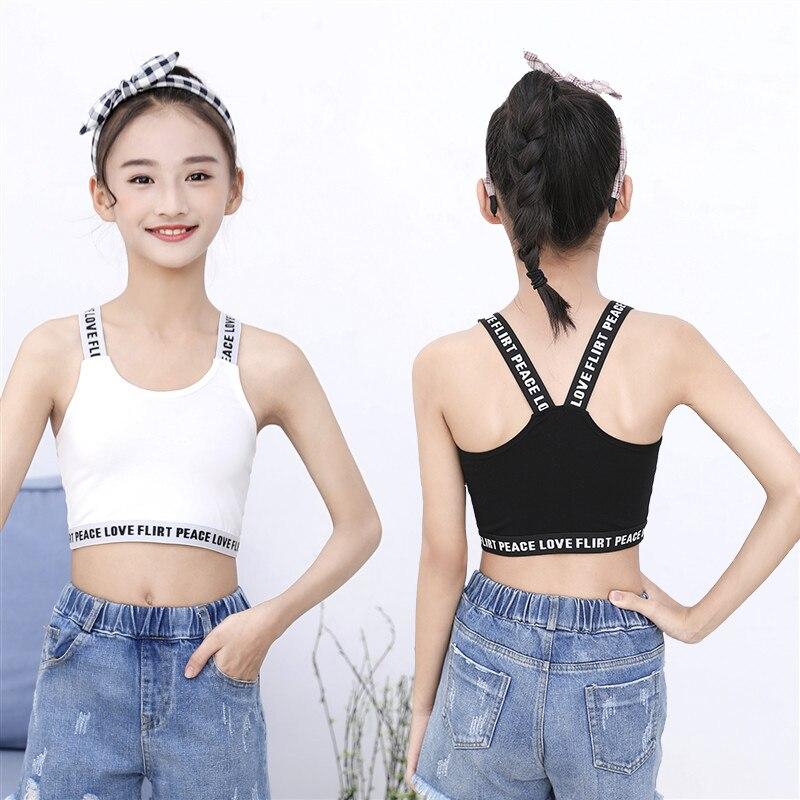 Children's Camisole Sleeveless Tops Girls Summer Sports Yoga Underwear Development Dancing Bottoming Shirts Children's Clothing