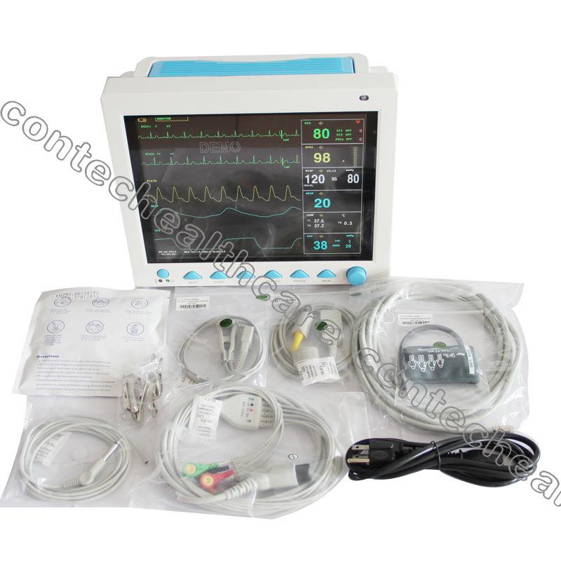CE Veterinary Vet Patient Moitor NIBP+SPO2+PR+ECG EKG+TEMP+RESP,3y Warranty,NEW