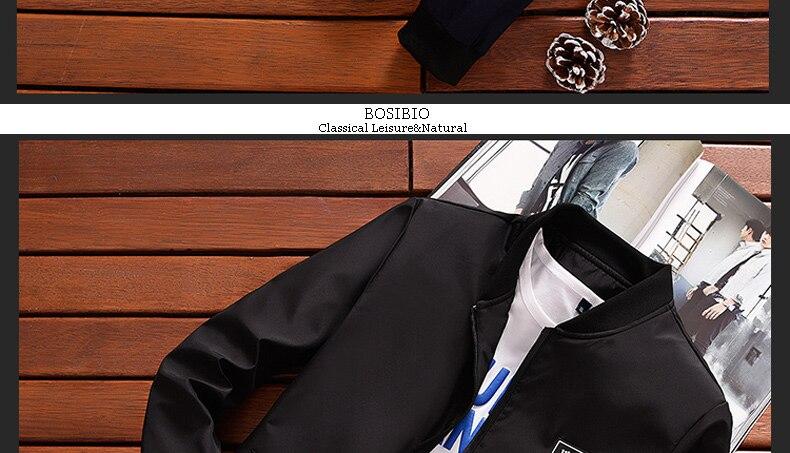HTB1yRNKglmWBuNkSndVq6AsApXa3 BOSIBIO Summer Autumn Mens Jacket Stand Collar Windbreaker Male Blue Baseball Jackets Casual Thin High Quality Size M-4XL LH-2