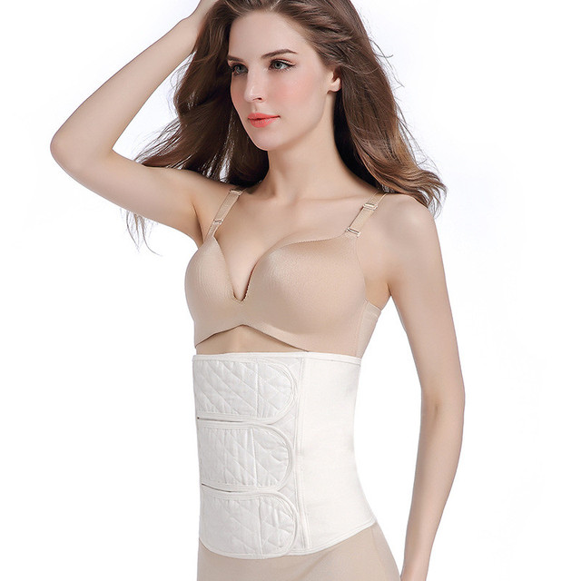 db1a473869bcd Women cotton waist cincher soft corset adjustable stomach slimming abdomen  control corrector breathable lady body shapewear