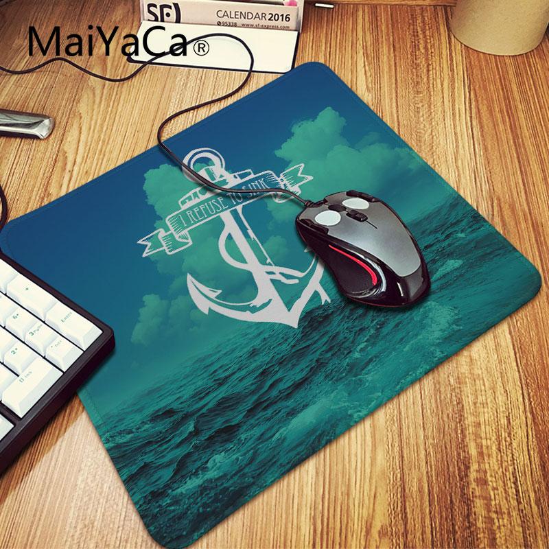MaiYaCa Unique Nautical Navy Anchor Pattern Unique Computer Mouse Pads Rubber Mouse Pad Desktop Mousepad 7.87*9.84 inch