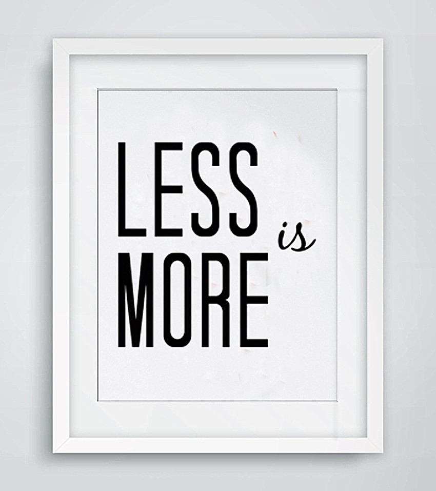 Wall Decor And More: KARA Less Is More Letter Canvas Art Wall Home Decor