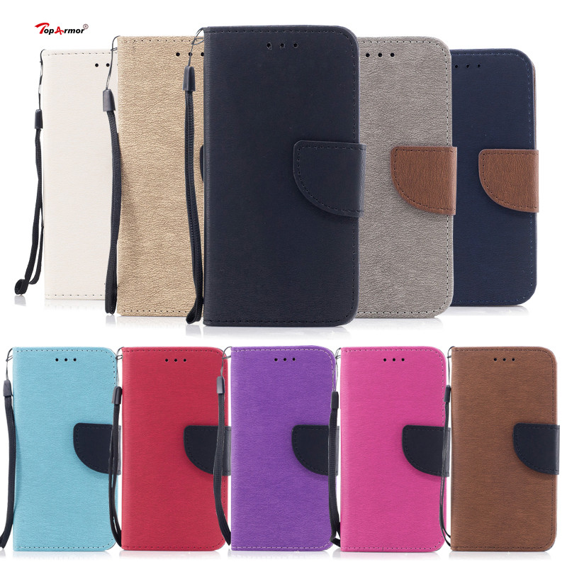 TopArmor Hit Color Case For Samsung Galaxy S7 S8 PU Leather Flip Wallet Shell For Samsung Galaxy S7 Edge S8 Plus Phone Case Bags