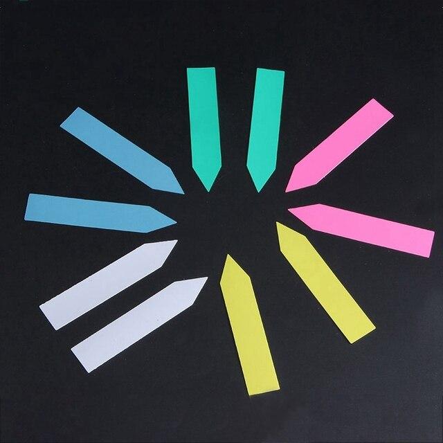 100 Pz Mini Pianta Plastica Etichette Seme Pot Marker Vivaio Garden Stake Tags S