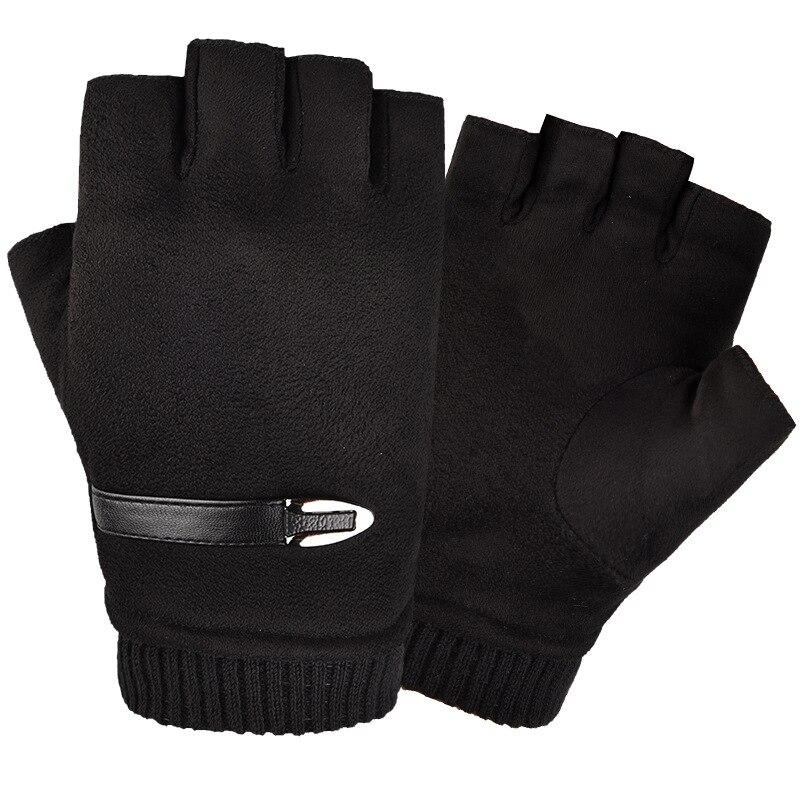 2019 nuevos guantes negros guantes sin dedos para hombre guantes de cuero para hombre
