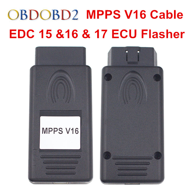 Multi language MPPS V16 ECU Cable V16 1 02 OBD2 Chip Tuning Tool For EDC 15  16 17 Flasher Free Shipping