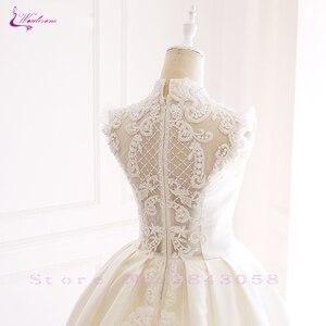 Image 5 - Luxury Mesh GORGEOUS Beadings and Grid element Elegant Lace Waulizane  Wedding Dresses O Neckline Bride Dresses