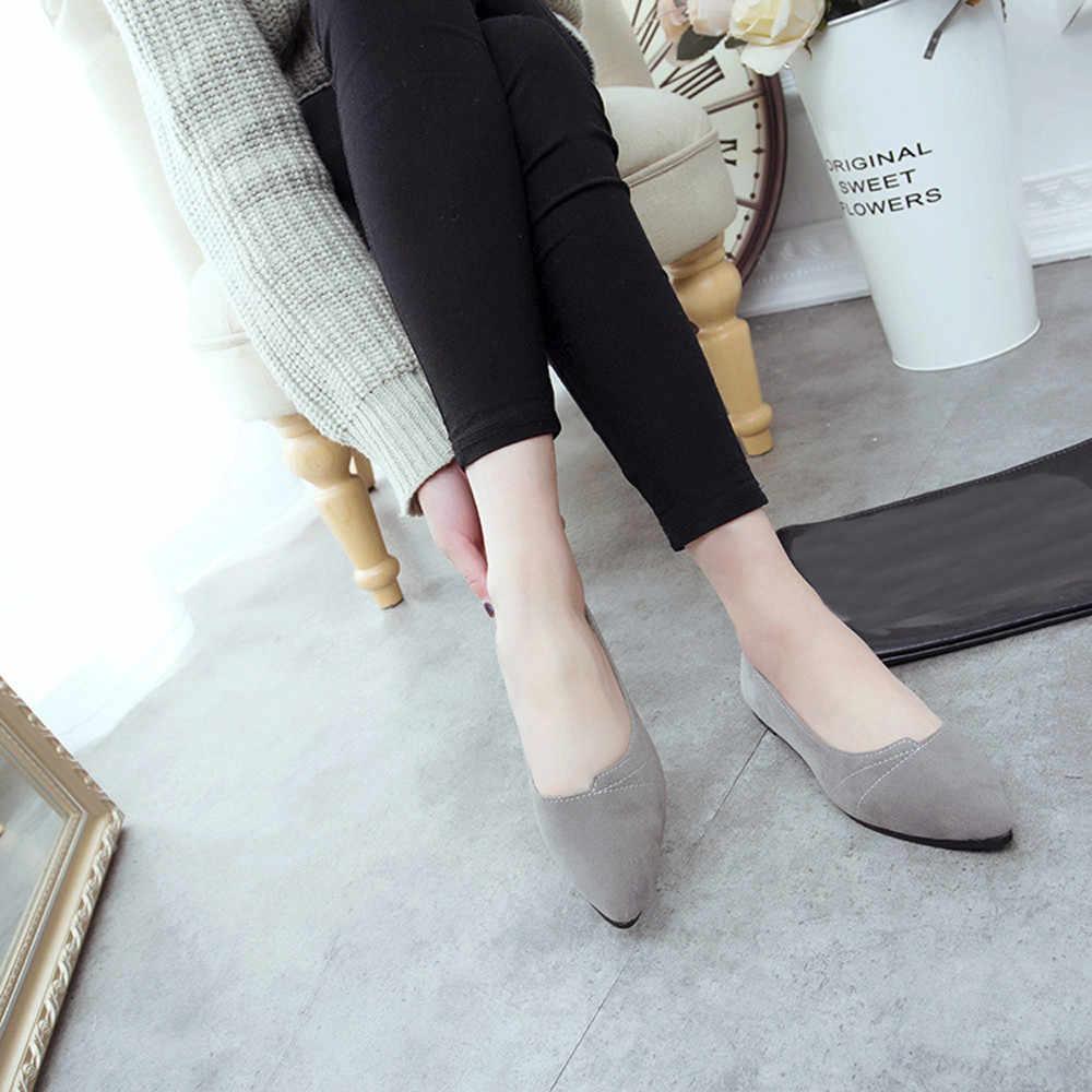 Femmes chaussures été plat Slip chaussure mode loisirs dames sans lacet chaussures bout rond unique chaussure zapatos mujer 2019 chaussures femme