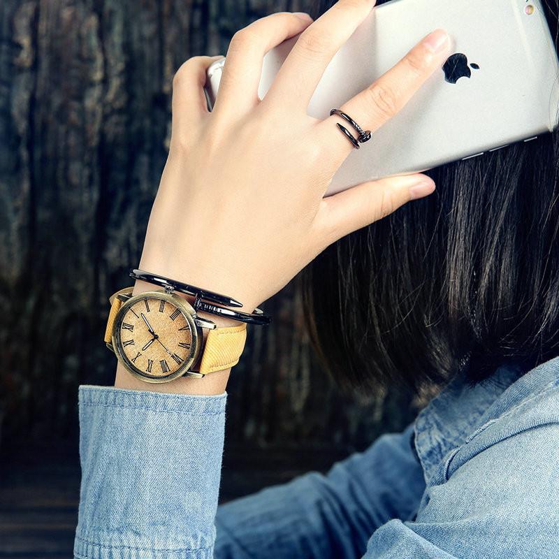 MEIBO Relojes Women Quartz Watches Denim Design Leather Strap Male Casual Wristwatch Relogio Masculino Ladies Watch female watch 5