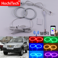 Wifi Wireless RGB Multi Color LED Angel Eye Halo Rings Day Light DRL for Chevrolet Niva 2009 2010 2011 2012 2013