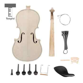 Tooyful 1/8 Violin Chinrest Tailpiece Peg Endpin String Bridge Fiddle Setting Kit