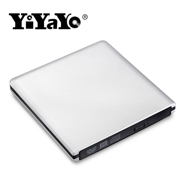 US $25 19 16% OFF|YiYaYo External USB 3 0 DVD Drive CD/ RW burner CD ROM/  ROM player Portable/Writer/Burner for Windows 7/810 for MAC OS linux-in