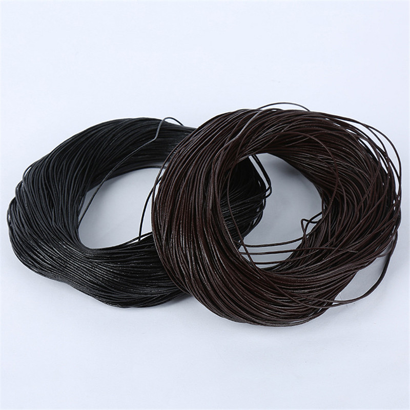 2m Black/Brown/Coffee 1/1.5/2/2.5/3/4/5mm Round Genuine Leather Jewelry Cord String Lace Rope DIY Necklace Bracelet Findings гарнитура qcyber roof black red звук 7 1 2 2m usb