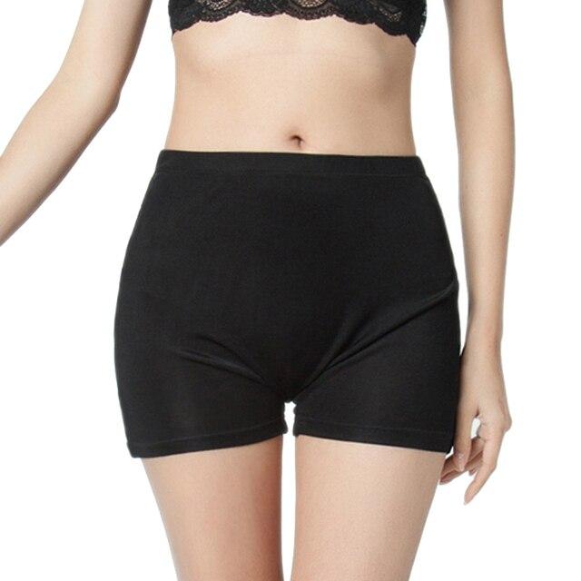 100% Silk Women's Safety Short Pants Femme Black White Purple Underpants Woman Sexy Women Panties Ladies Knickers Female