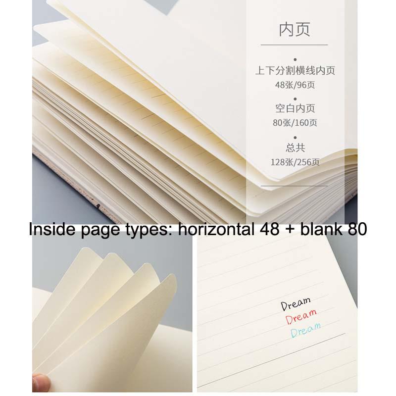 Купить с кэшбэком Blank / Horizontal Line Sketchbook Drawing Diary School Notebook Paper Sketch Book Creative Trends Office School Supplies Gift