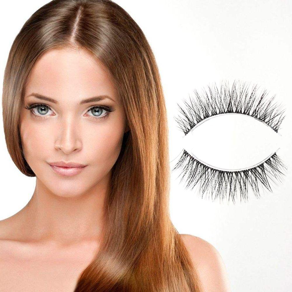 2017 High Quality 3 Pairs/set 3d Natural Black Cross Thick Diy False Eyelashes Long Eye Lashes Fashion Women Beauty Makeup Tools Elegant Appearance Beauty Essentials