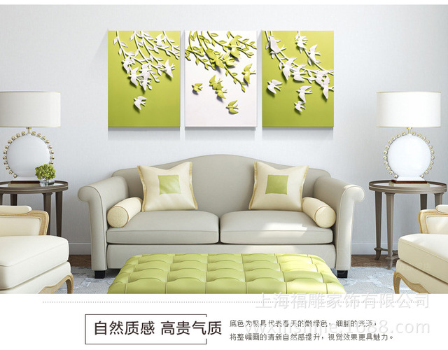 fu carved furniture trade new three dimensional painting resin hall