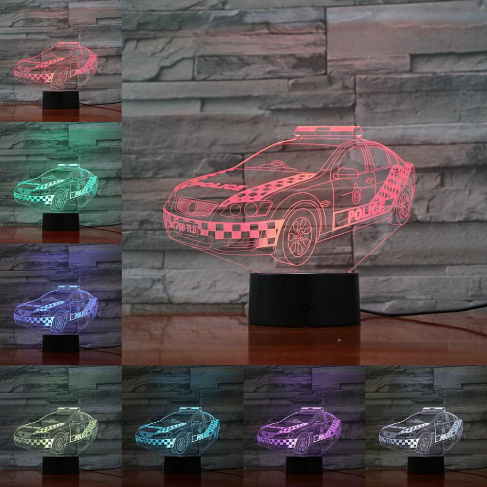 3D Night Light Table Lamp Racing Car 3D Lighting Bedside Decor Flashlight Gifts For Fans Novelty Birthday Present AA Batteries
