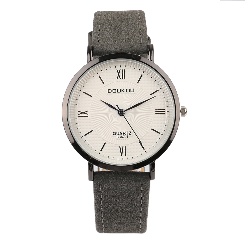 Brand New Fashion Casual Retro Black Case Leather Women's Watch Simple Vintage Small Lovers' WristWatch Round Case Time Clock