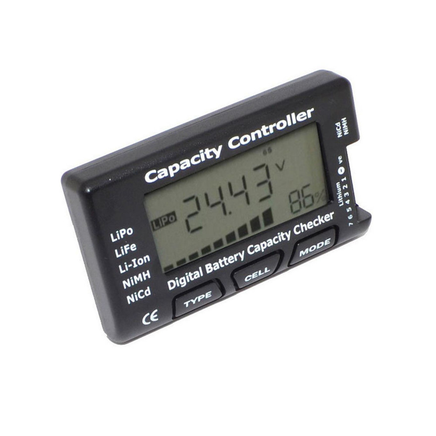 CellMeter-7 Digital Battery Capacity Checker LiPo LiFe Li-ion NiMH Nicd