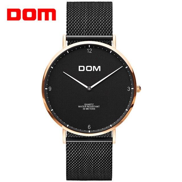 fd1d94ca6e85 DOM amantes reloj Top marca de lujo reloj de cuarzo Casual reloj de cuarzo  reloj de