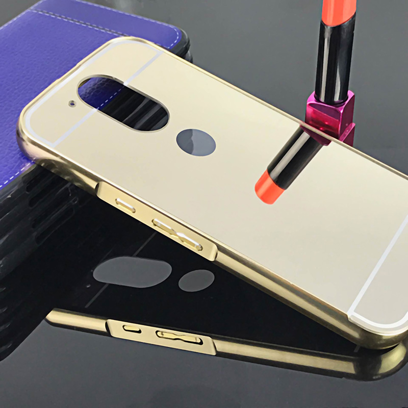 sports shoes aaae7 b84a5 Original Adlikeme For Moto G4 G4 Plus Mirror Acrylic Back Case Metal Frame  Coque For Motorola G4 5.5