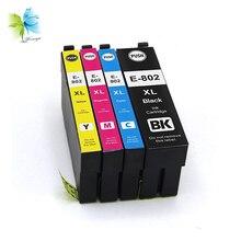 Winnerjet 10 Sets 4 Colors T802XL BK Compatible Ink Cartridge for Epson WorkForce WF-4720/WF-4730/WF-4734/WF-4740 Printers цена и фото
