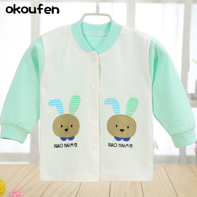 okoufen 2017 toddler boys and girls clothing spring and autumn children cotton baby clothes jackets Home Furnishing single coat