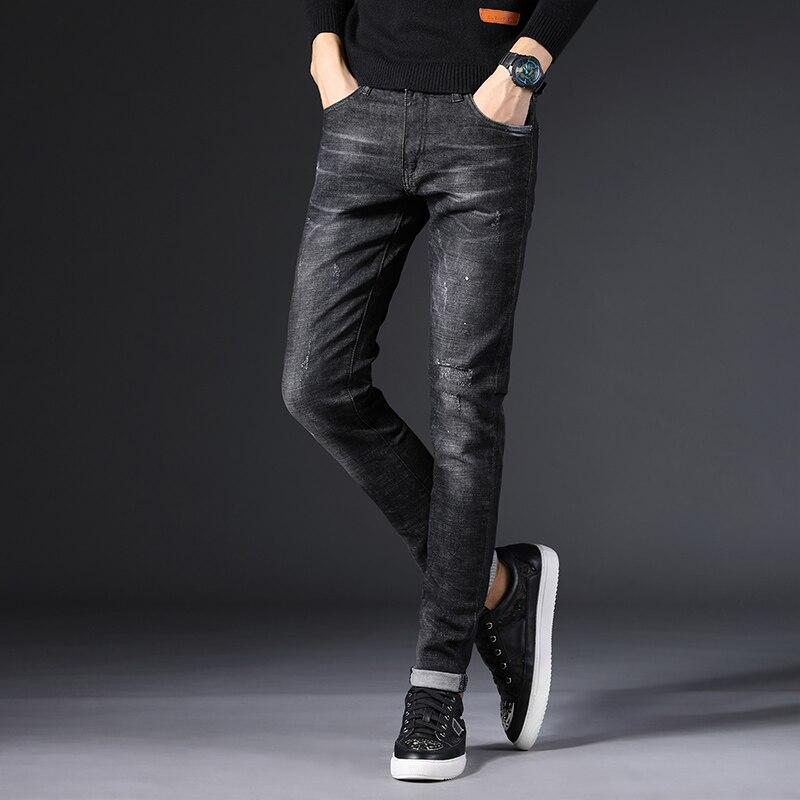 Cheap Wholesale 2019 New Autumn Winter Hot Selling Men's Fashion Casual  Denim Pants MP557