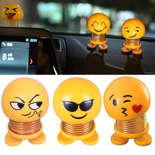 Shaking Head Doll Innovative Spring People Bouncing Ornaments Funny Expression Pack Car Decoration