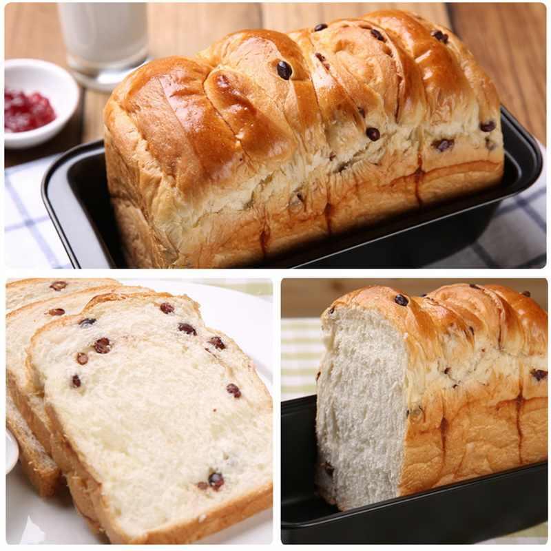 1 قطعة غير عصا مستطيل الكربون الصلب نخب قالب الخبز قالب الكعكة الرغيف المعجنات الخبز لوازم الخبز عموم الخبز