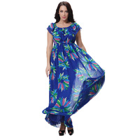 M 6XL Floral Printed Chiffon Vestidos Dress Plus Size Strapless Maxi Long Women Sleeveless Dress 5XL Large Big Size Summer Style