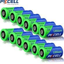 12 adet PKCELL 3V pil CR123A CR123 123A CR17345 KL23a VL123A DL123A 5018LC EL123AP Li MnO2 lityum piller LED el feneri