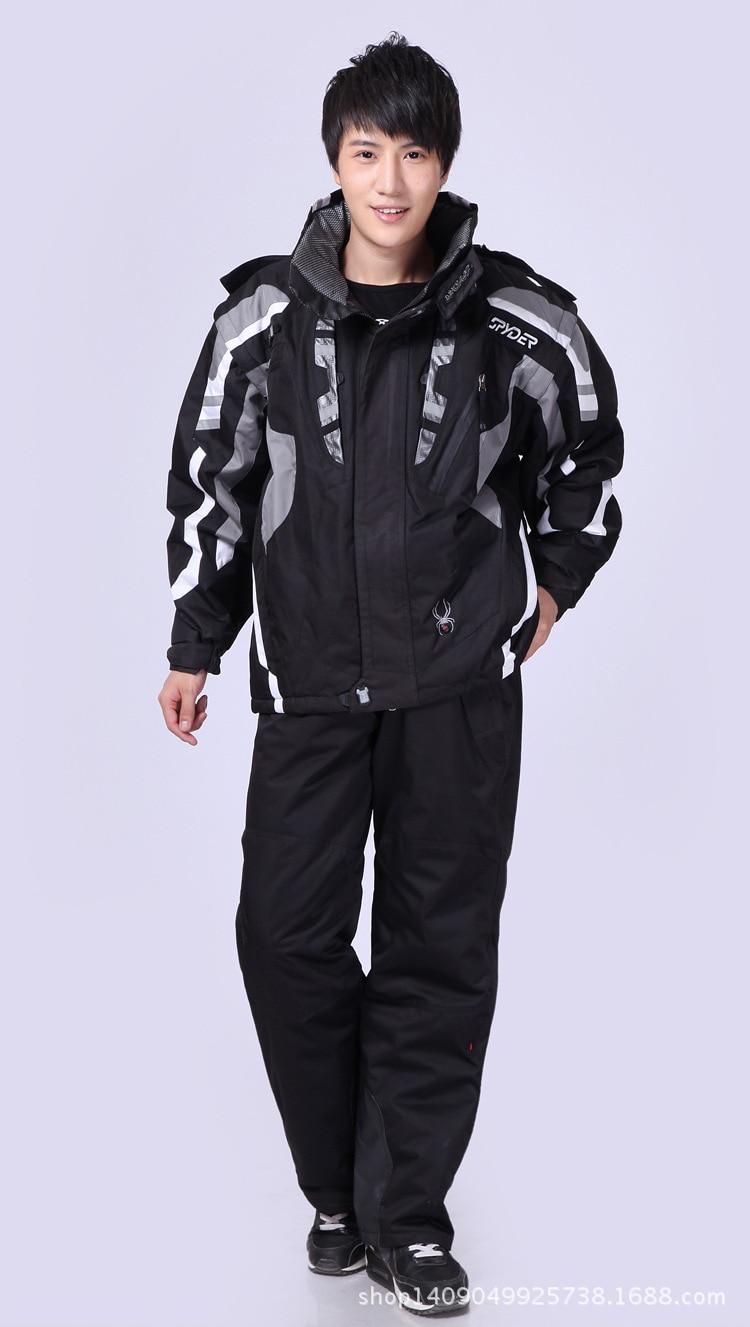 Ski Suit Men Winter Spider Thermal Waterproof Windproof Snow Pants Ski Jacket Men Set Skiing And Snowboarding Suits Brands