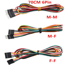 Jumper Wires 10pcs/lot 6pin 70cm M-M M-F F-F DuPont Cable Line Breadboard  for Electronic DIY Starter Kit