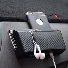 Углеродное волокно стиль автомобильный ящик для хранения телефона держатель мягкий пвх материал сумка-Органайзер для автомобиля держатели карт монетница укладка