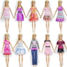 Randomly 10 Pcs Mix Poupée Outfit + 10 Paire De Chaussures De Poupée Belle Vêtements De Mode À La Main Pour Barbie Poupée Meilleur Cadeau Enfants Jouets