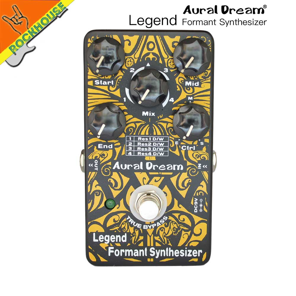 AuralDream Formant Synthesizer Vocal Simulator Guitar Effects Pedal Human Voice Simulator True Bypass Free Shipping aroma adr 3 dumbler amp simulator guitar effect pedal mini single pedals with true bypass aluminium alloy guitar accessories